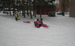 Žabičky - užíváme sněhu